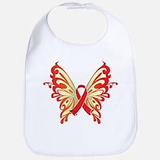 AIDS Ribbon Butterfly Bib