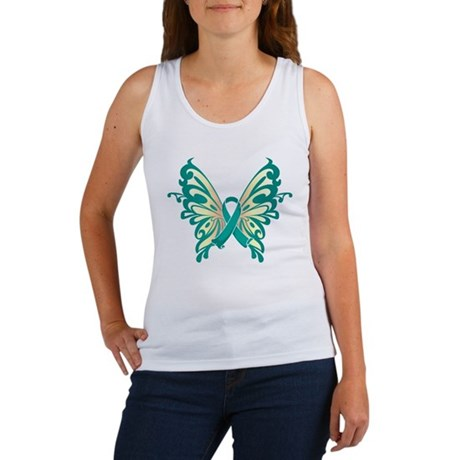 Ovarian Cancer Butterfly Women's Tank Top