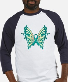 Cervical Cancer Butterfly Baseball Jersey