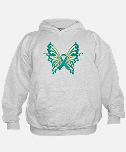 Cervical Cancer Butterfly Hoodie