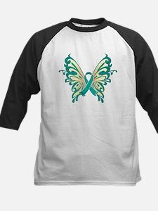 Cervical Cancer Butterfly Kids Baseball Jersey