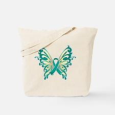 Cervical Cancer Butterfly Tote Bag