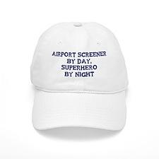 Airport Screener by day Baseball Cap