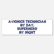 Avionics Technician by day Bumper Car Car Sticker