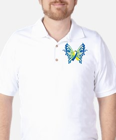Down Syndrome Butterfly Golf Shirt