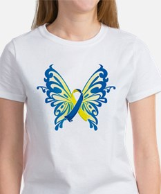Down Syndrome Butterfly Women's T-Shirt