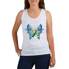Down Syndrome Butterfly Women's Tank Top
