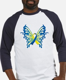 Down Syndrome Butterfly Baseball Jersey