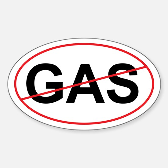 """No GAS """"Green"""" Oval Decal"""