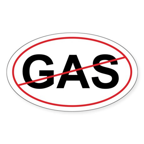 "No GAS ""Green"" Oval Sticker"