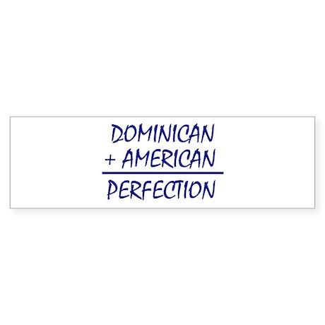 Dominican American heritage Bumper Sticker