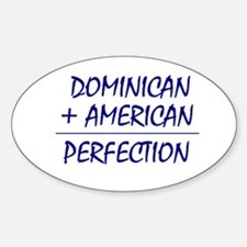 Dominican American heritage Oval Decal