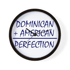Dominican American heritage Wall Clock