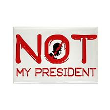 Not my President Rectangle Magnet (100 pack)
