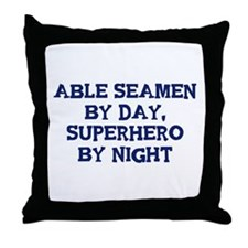 Able Seamen by day Throw Pillow