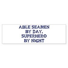 Able Seamen by day Bumper Car Sticker