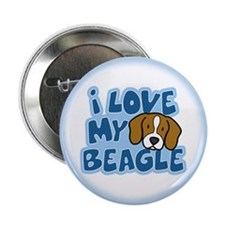 "I Love my Beagle 2.25"" Button"