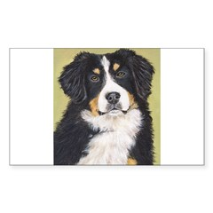 Bernese Mountain Dog Rectangle Decal