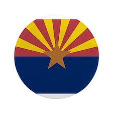 """Beloved Arizona Flag Modern S 3.5"""" Button"""