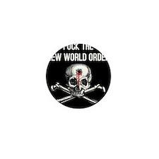 Cute Stop the new world order Mini Button