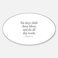 EXODUS 20:9 Oval Decal