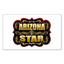 Arizona Star Gold Badge Seal Rectangle Decal