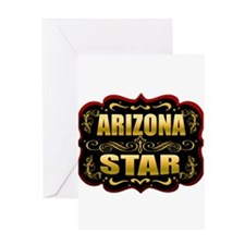 Arizona Star Gold Badge Seal Greeting Card