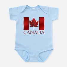 Canadian Flag Infant Bodysuit Baby Souvenir