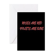 OUR LOVE IS DEAD Greeting Card