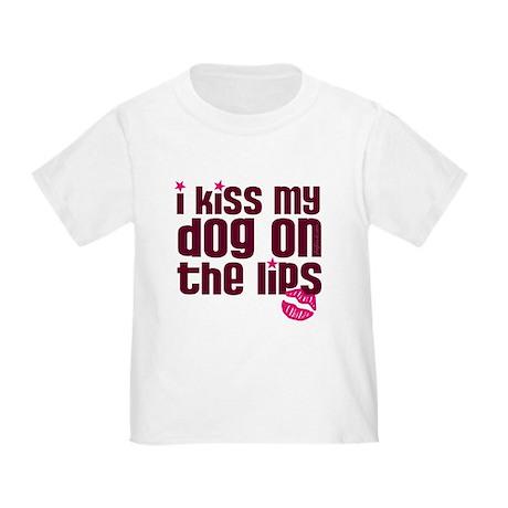 Kiss Dog Lips Toddler T-Shirt