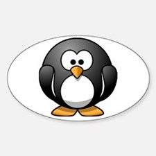 Chubby Penguin Oval Decal
