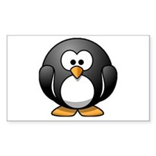 Chubby Penguin Rectangle Decal
