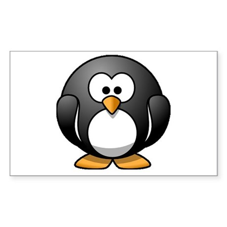 Chubby Penguin Rectangle Sticker