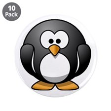 """Chubby Penguin 3.5"""" Button (10 pack)"""