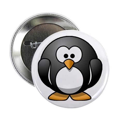 """Chubby Penguin 2.25"""" Button (100 pack)"""