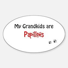Papillon Grandkids Oval Decal