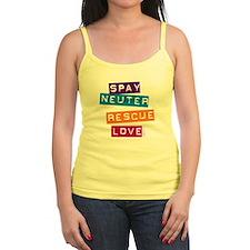 Spay Neuter Rescue Love Jr.Spaghetti Strap