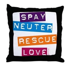 Spay Neuter Rescue Love Throw Pillow