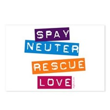 Spay Neuter Rescue Love Postcards (Package of 8)