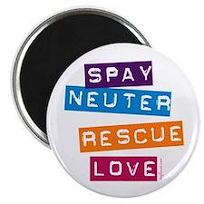"Spay Neuter Rescue Love 2.25"" Magnet (100 pack)"