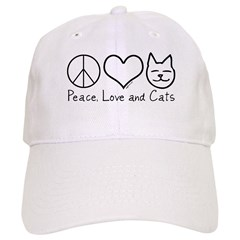 Peace, Love, and Cats! Baseball Cap
