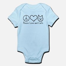 Peace, Love, and Cats! Infant Bodysuit