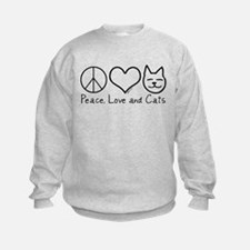Peace, Love, and Cats! Sweatshirt
