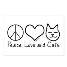 Peace, Love, and Cats! Postcards (Package of 8)