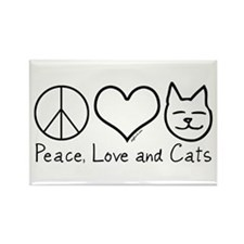 Peace, Love, and Cats! Rectangle Magnet