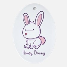 Honey Bunny Oval Ornament