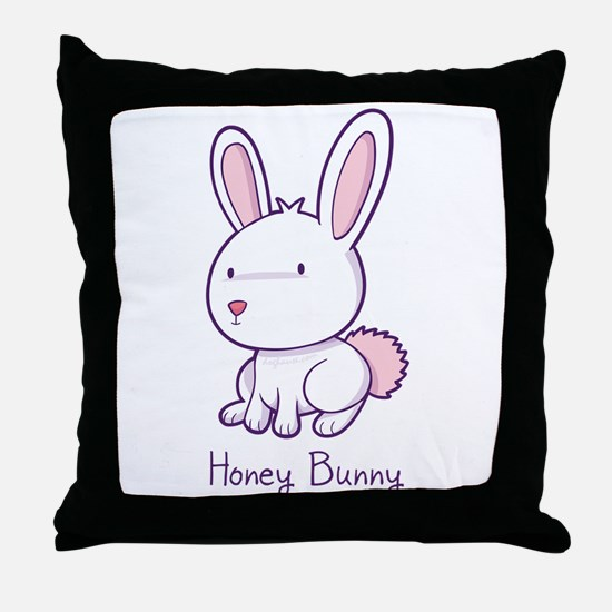 Honey Bunny Throw Pillow