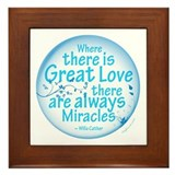 Inspirational quotes Framed Tiles