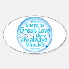Great Love Oval Decal