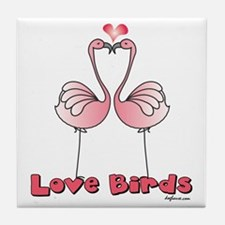 Love Birds (Flamingos) Tile Coaster